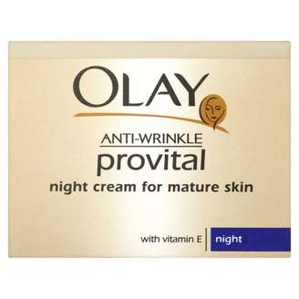 Olay Anti-Wrinkle Provital Night Cream for Mature Skin 50 g