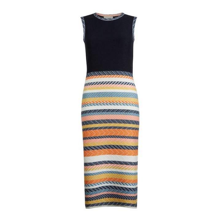 Navy/Multi Striped Leonie Dress