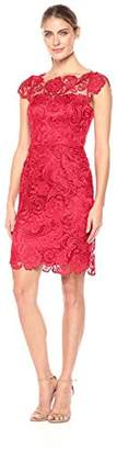 Decode 1.8 Women's Cap Sleeve Lace Dress with Illusion Neckline