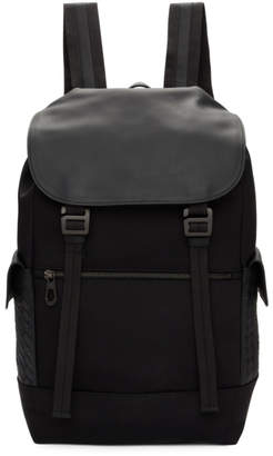 Bottega Veneta Black Hi-Tech Canvas Sassolungo Backpack