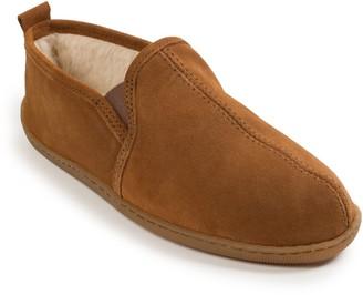 Minnetonka Men's Romeo Brown Twin-Gore Slippers