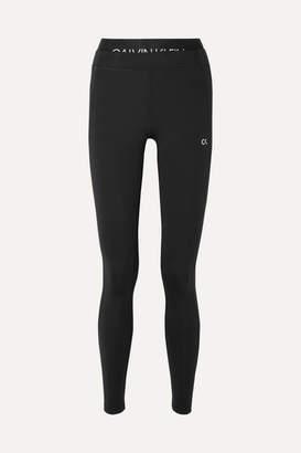 Calvin Klein Cropped Printed Stretch Leggings