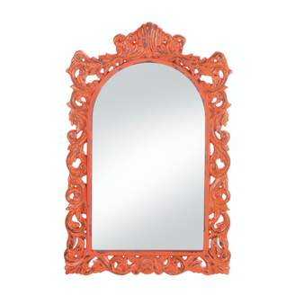 AccentPlus Distressed Ornate Wood Wall Mirror