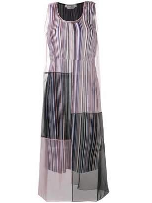 Sportmax sheer patchwork design dress