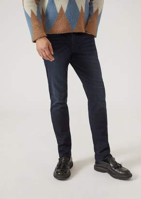Emporio Armani J06 Dark Wash Comfort Denim Slim Fit Jeans