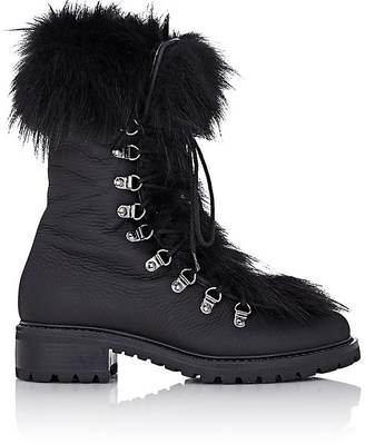 Barneys New York Women's Fur-Trimmed M6 Boots $625 thestylecure.com