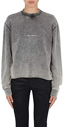 Saint Laurent Women's Logo-Print Cotton Sweatshirt