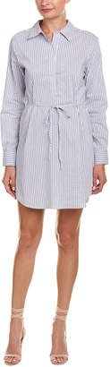 DAY Birger et Mikkelsen Lavender Brown Striped Shirtdress