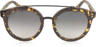 Stella McCartney SC0054S Round Aviator Acetate Women's Sunglasses