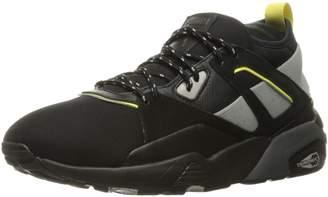 Puma Men's Bog Sock Elemental Fashion Sneaker, Black/Asphalt, 10.5 M US