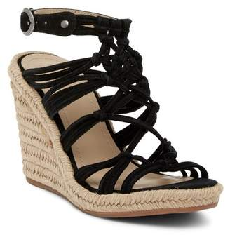 Johnston & Murphy Mindy Braided Ankle Strap Wedge Sandal