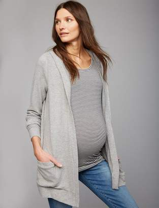 Chaser Lace Back Maternity Cardigan
