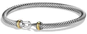 David Yurman Sterling Silver & 18k Cable Bracelet