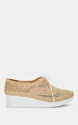 Clergerie Women's Vicole Raffia Platform Oxfords - Neutral