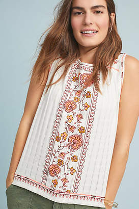 Anthropologie Sydney Embroidered Top