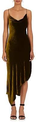 Juan Carlos Obando Women's Velvet Cowlneck Slipdress