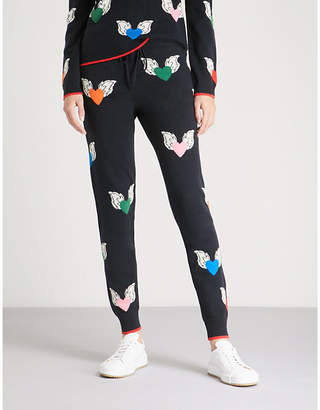 Chinti and Parker Juliet Heart cashmere trousers