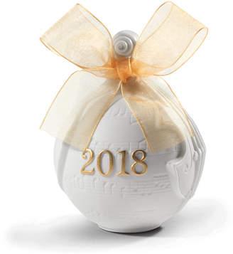 Lladro 2018 Christmas Re-Deco Gold Ball Ornament