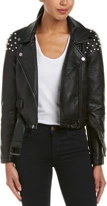 Joe's Jeans Pearl Studded Moto Jacket