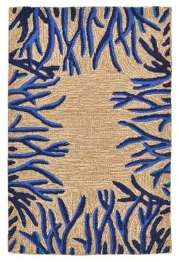 Liora Manné Spello Coral Border Indoor and Outdoor Rug