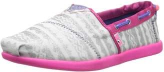 Skechers Bobs World Slip-On Sneaker ,Silver/Pink