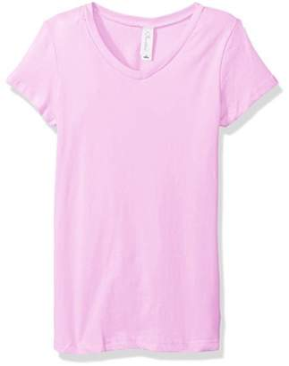Clementine Apparel Girls Clementine Everyday Short-Sleeve Princess V-Neck T-Shirt