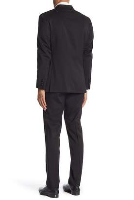Kenneth Cole Reaction Black Houndstooth Two Button Notch Lapel Techni-Cole Performance Tuxedo