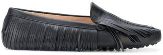 Tod's fringed slip-on loafers