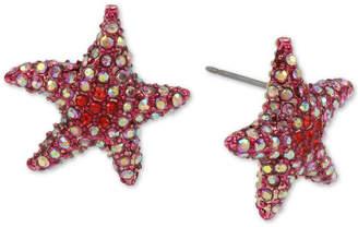 Betsey Johnson Pave Starfish Stud Earrings