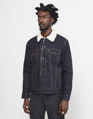 Levi's Type 3 Sherpa Trucker Jacket Dark Blue