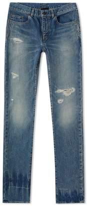 Saint Laurent Low Rise Skinny Trash Jean