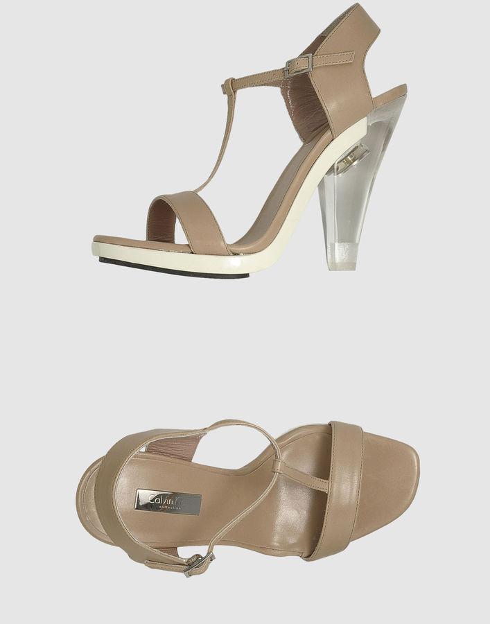CALVIN KLEIN COLLECTION Platform sandals