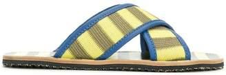 Marni striped slides