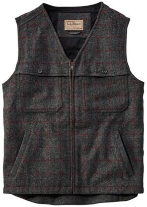 L.L. Bean L.L.Bean Maine Guide Zip-Front Wool Vest, Plaid