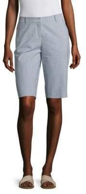 Lafayette 148 New York Seersucker Bermuda Shorts