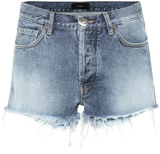 Alanui Mid-rise denim shorts