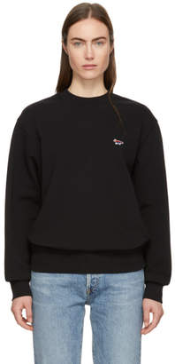 MAISON KITSUNÉ SSENSE Exclusive Black Rainbow Fox Patch Sweatshirt