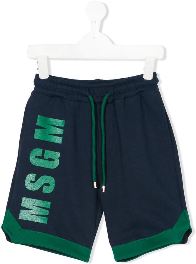 logo printed shorts