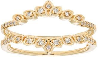 14k Gold 1/6 Carat T.W. Diamond Marquise Enhancer Wedding Ring