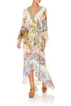 Camilla Lady Labyrinth Long Sleeve Wrap Dress