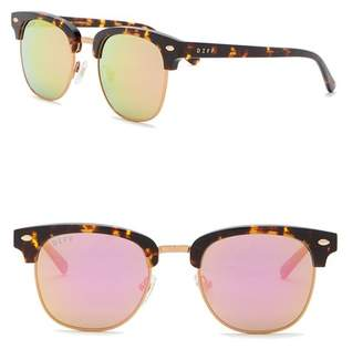 DIFF Barry Metal Acetate 51mm Clubmaster Sunglasses