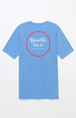 Brixton Wheeler Premium Light Blue T-Shirt
