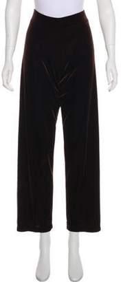 Oscar de la Renta Velvet Straight-Leg Pants brown Velvet Straight-Leg Pants
