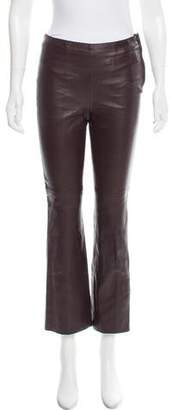 Schumacher Dorothee Leather Mid-Rise Pants w/ Tags