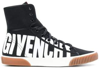 Givenchy logo print hi-top sneakers