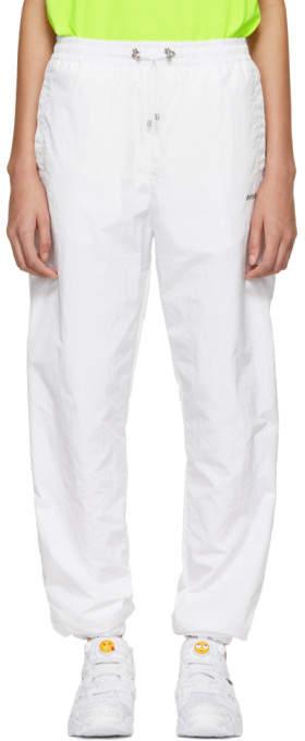 White Sport Track Pants