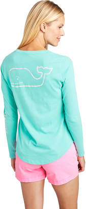 Vineyard Vines Long-Sleeve Gradient Vintage Whale Slub Tee