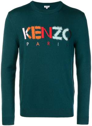 Kenzo logo embroidered jumper