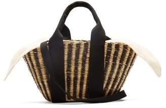 Muun Mini Ava Straw Basket Bag - Womens - Cream Multi