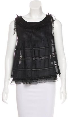 Isabel Marant Crochet-Trimmed Sleeveless Top